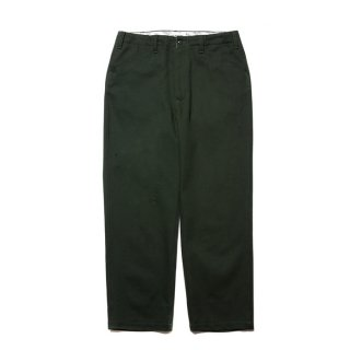 COOTIE/COTTON  KERSEY WORK TROUSERS/グリーン