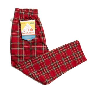 COOKMAN/CHEF PANTS/TARTAN RED