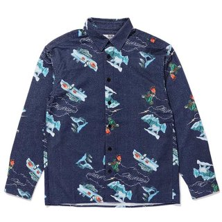 CHALLENGER/L/S FLANNEL PRINTED SHIRT