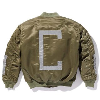 CHALLENGER/REFLECTOR MA-1 JACKET/オリーブ