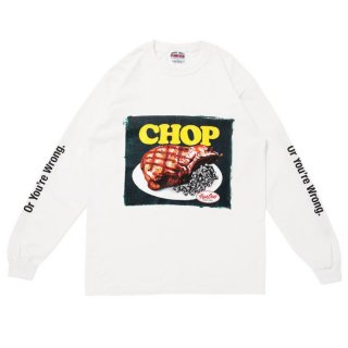 PORKCHOP/CHOP L/S TEE/ホワイト