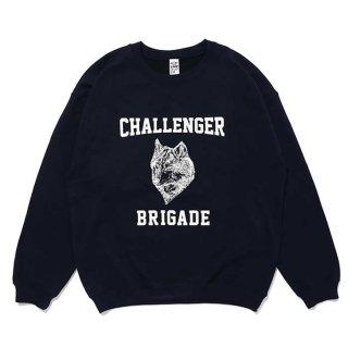 CHALLENGER/WOLF COLLEGE C/N SWEAT/ネイビー