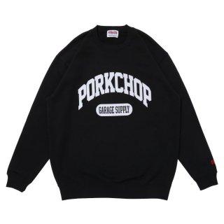 PORKCHOP/COLLEGE SWEAT/ブラック