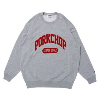 <img class='new_mark_img1' src='https://img.shop-pro.jp/img/new/icons8.gif' style='border:none;display:inline;margin:0px;padding:0px;width:auto;' />PORKCHOP/COLLEGE SWEAT/グレー