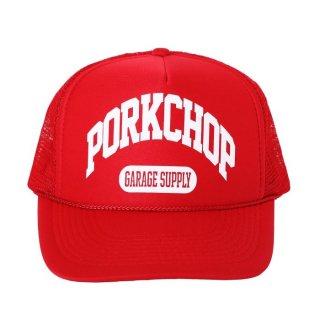 PORKCHOP/COLLEGE CAP/レッド
