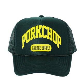 PORKCHOP/COLLEGE CAP/ダークグリーン