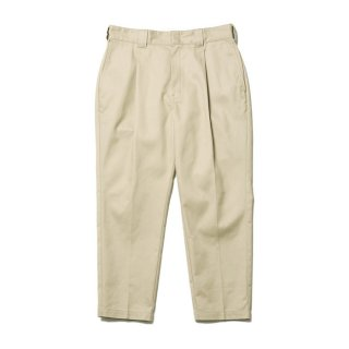 COOTIE/T/C TUCK TROUSERS/ベージュ