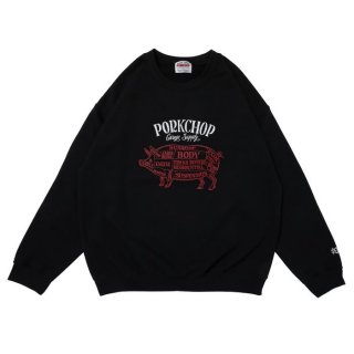 PORKCHOP/CHOPPERS WELCOME SWEAT/ブラック