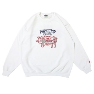 PORKCHOP/CHOPPERS WELCOME SWEAT/ホワイト
