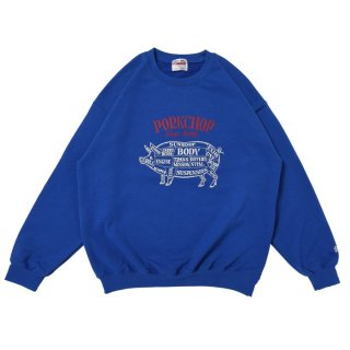 PORKCHOP/CHOPPERS WELCOME SWEAT/ブルー