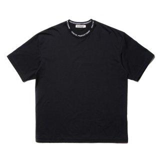 COOTIE/SUPIMA COTTON JACQUARD NECK S/S TEE/ブラック