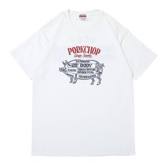 PORKCHOP/CHOPPERS WELCOME TEE/ホワイト