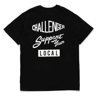 CHALLENGER/SUPPORT TEE/ブラック