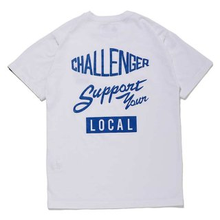 CHALLENGER/SUPPORT TEE/ホワイト