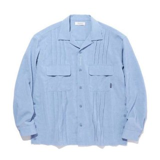 RADIALL/MONTE CALRO-OPEN COLLARED SHIRT L/S/ブルー