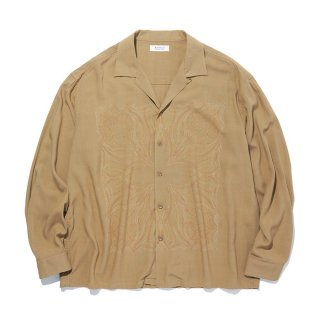 RADIALL/KUNG-FU ROSE-OPEN COLLARED SHIRT L/S/ルートビアー【20%OFF】<img class='new_mark_img2' src='https://img.shop-pro.jp/img/new/icons20.gif' style='border:none;display:inline;margin:0px;padding:0px;width:auto;' />