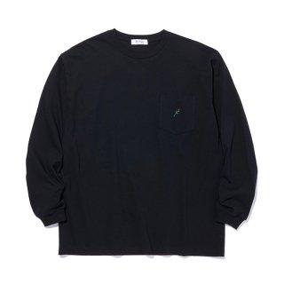 RADIALL/ROSE-CREW NECK POCKET T-SHIRT L/S/ブラック