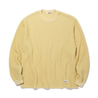 RADIALL/BIG WAFFLE-CREW NECK T-SHIRT L/S/イエロー