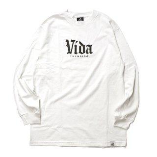 THUMBING/VIDA L/S TEE/ホワイト/送料無料