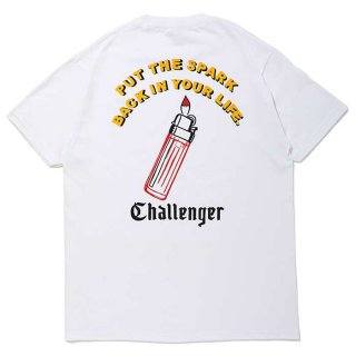 CHALLENGER/PUT THE SPARK TEE/ホワイト