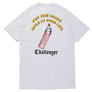CHALLENGER/PUT THE SPARK TEE/アッシュグレー