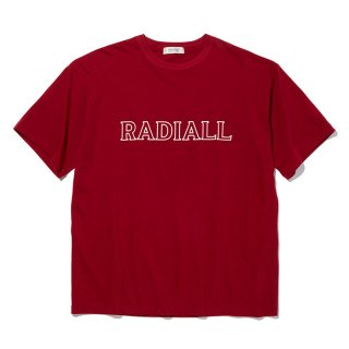 RADIALL/OUTLINE-CREW NECK T-SHIRT S/S/レッド