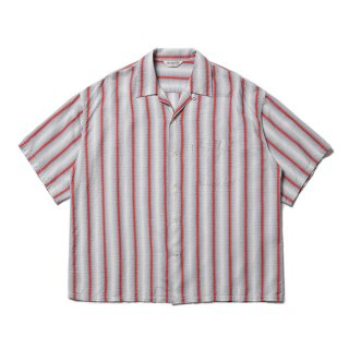 <img class='new_mark_img1' src='https://img.shop-pro.jp/img/new/icons8.gif' style='border:none;display:inline;margin:0px;padding:0px;width:auto;' />COOTIE/SNAKE STRIPE OPEN-NECK S/S SHIRT