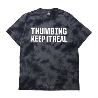 THUMBING/K-I-R/TIE DYE/ブラック/送料無料