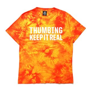 THUMBING/K-I-R/TIE DYE/オレンジ/送料無料
