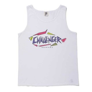 <img class='new_mark_img1' src='https://img.shop-pro.jp/img/new/icons8.gif' style='border:none;display:inline;margin:0px;padding:0px;width:auto;' />CHALLENGER/SHARK LOGO TANK TOP/ホワイト