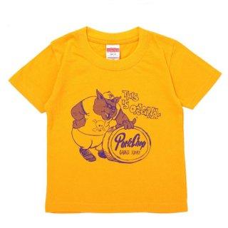 PORKCHOP/THIS IS ORIGINAL TEE for kids/ゴールド