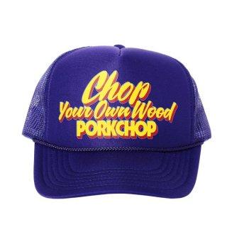 PORKCHOP/CHOP YOUR OWN WOOD CAP/パープル