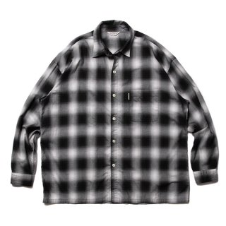 COOTIE/OMBRE CHECK L/S SHIRT/ブラック