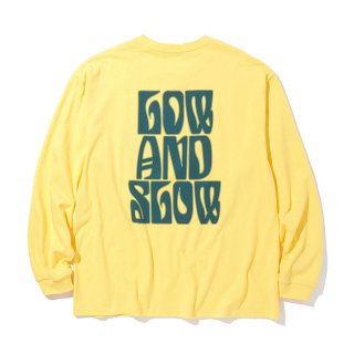 RADIALL/LO-N-SLO-CREW NECK T-SHIRTS L/S/イエロー