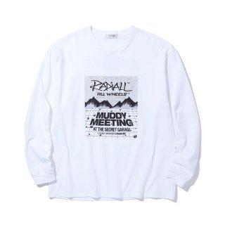 RADIALL/MR. MUDDY-CREW NECK T-SHIRTS L/S/ホワイト