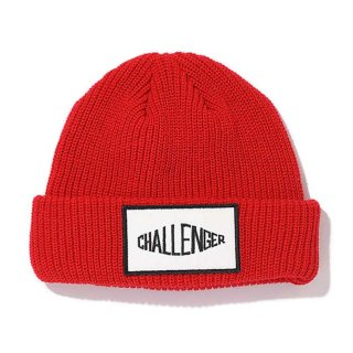 <img class='new_mark_img1' src='https://img.shop-pro.jp/img/new/icons8.gif' style='border:none;display:inline;margin:0px;padding:0px;width:auto;' />CHALLENGER/LOGO PATCH KNIT CAP/レッド