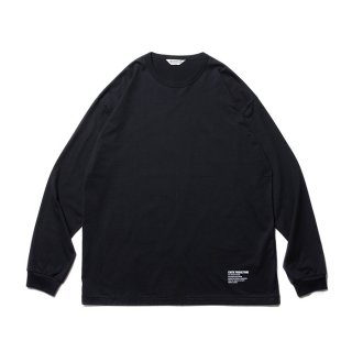 COOTIE/SUPIMA RELAX FIT L/S TEE/ブラック