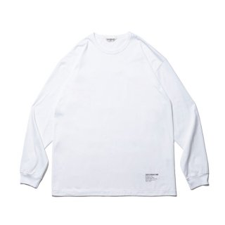 COOTIE/SUPIMA RELAX FIT L/S TEE/ホワイト