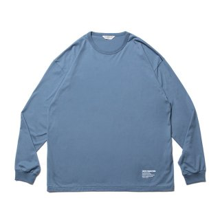 COOTIE/SUPIMA RELAX FIT L/S TEE/スモークブルー