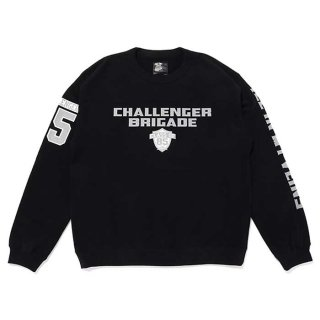 <img class='new_mark_img1' src='https://img.shop-pro.jp/img/new/icons8.gif' style='border:none;display:inline;margin:0px;padding:0px;width:auto;' />CHALLENGER/BRIGADE SWEAT/ブラック