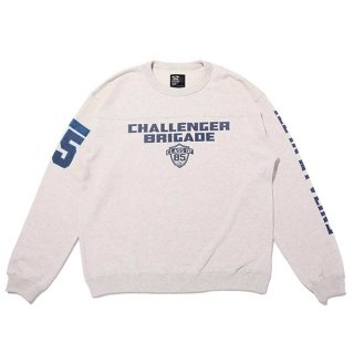 <img class='new_mark_img1' src='https://img.shop-pro.jp/img/new/icons8.gif' style='border:none;display:inline;margin:0px;padding:0px;width:auto;' />CHALLENGER/BRIGADE SWEAT/グレー
