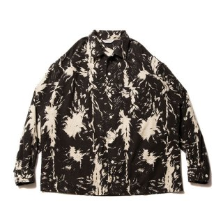 <img class='new_mark_img1' src='https://img.shop-pro.jp/img/new/icons8.gif' style='border:none;display:inline;margin:0px;padding:0px;width:auto;' />COOTIE/WOLF PRINT NEL OPEN COLLAR SHIRT