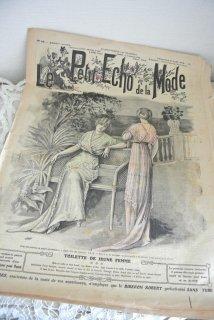 フランスアンティーク ファッション誌「ル・プティ・エコー・ド・ラ・モード」1912年8月  【普通郵便送料無料】