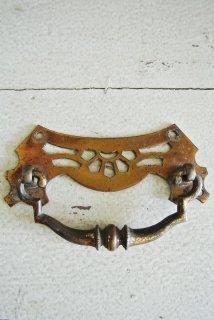 フランスアンティーク 真鍮製アールデコデザインの引出取っ手 【クリックポスト送料無料】