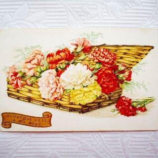 色とりどりのカーネーションのポストカード【普通郵便送料無料】