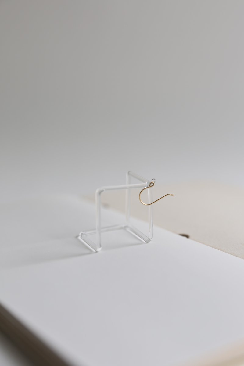 invisible square earring