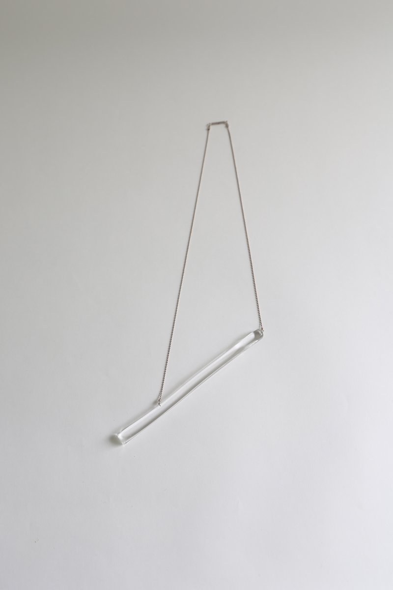 stick necklace|clear