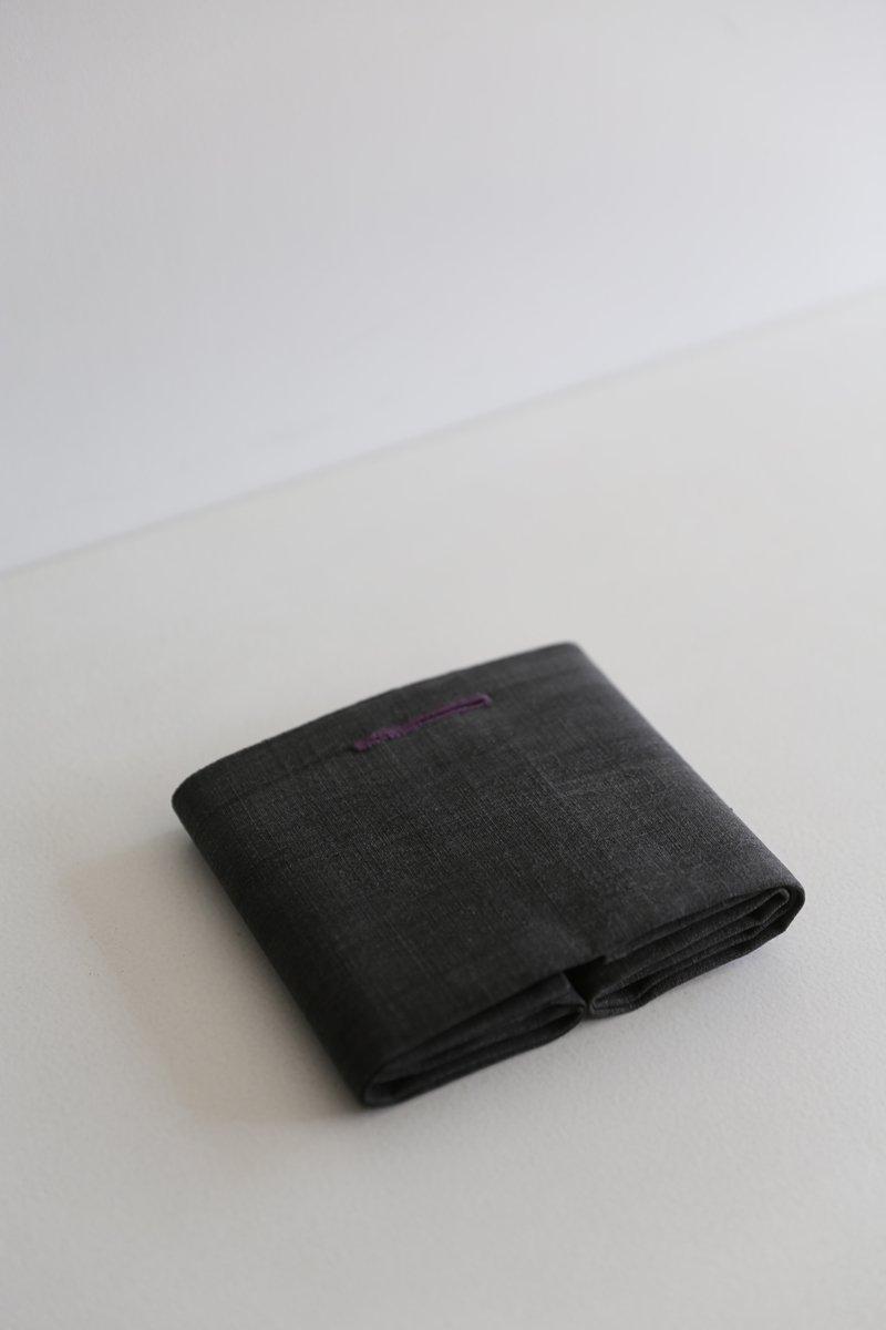 手織り綿布巾|墨染め濃