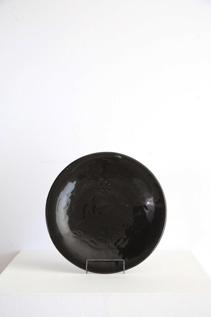 型打8寸皿|鳥 黒