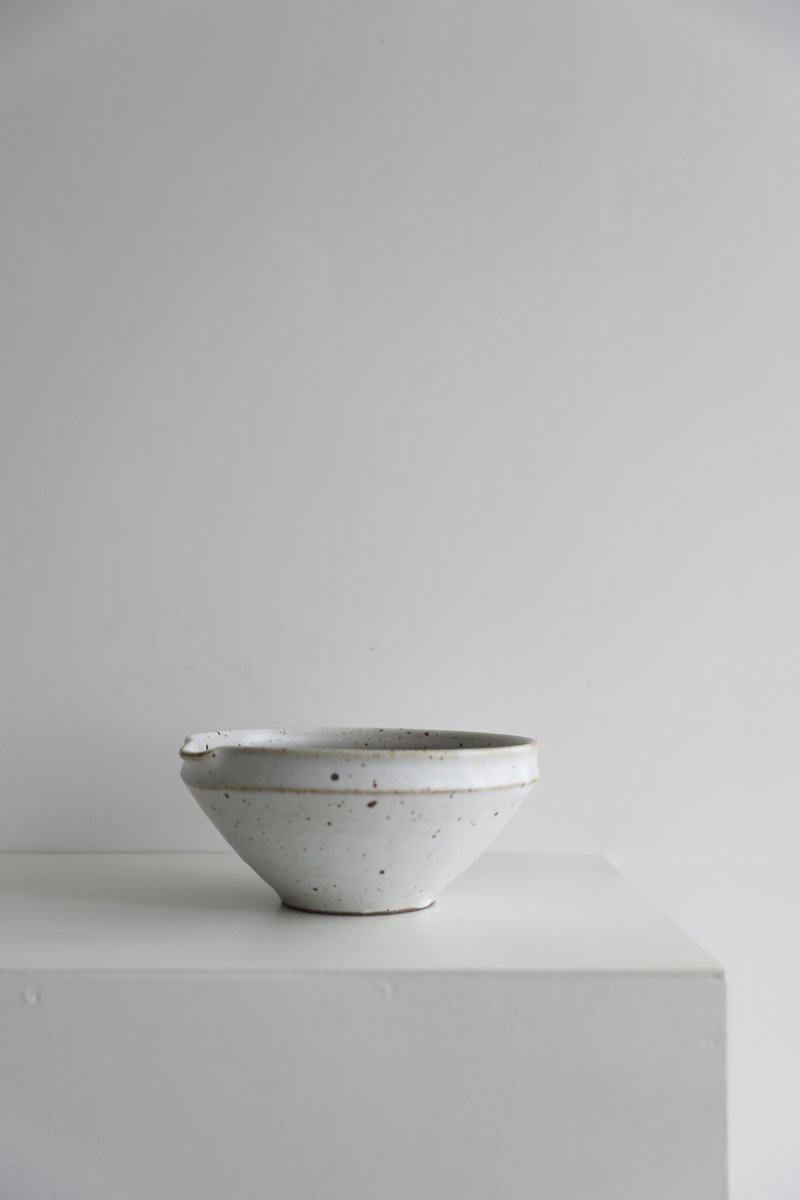 山只華陶苑 すり鉢8寸|白